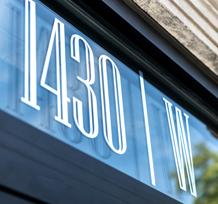1430 W Street Sign